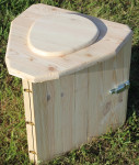 - toilette seche camping pliable transportable en bois