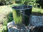 seau inox  12 litres avec couvercle (qualité alimentaire)