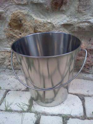 seau inox 15 litres inox 304 austénique (qualité alimentaire)